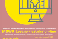 Plakat MBWA Sztuka on-line (photo)